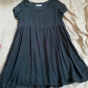 American Apparel Black Babydoll Dress